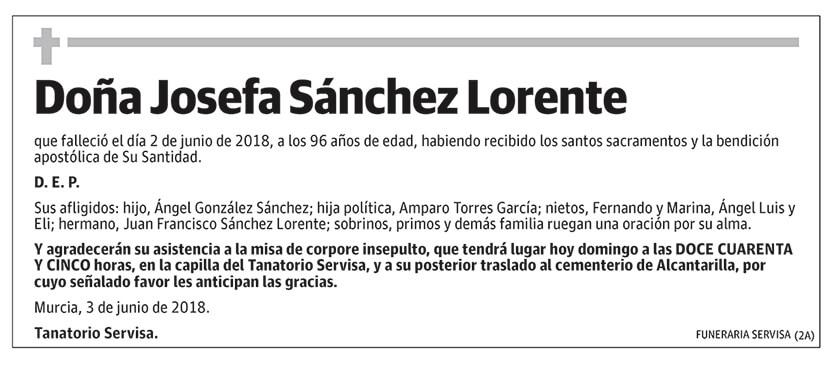 Josefa Sánchez Lorente