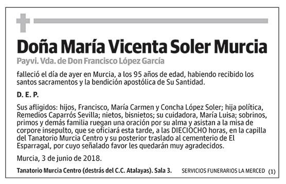 María Vicenta Soler Murcia