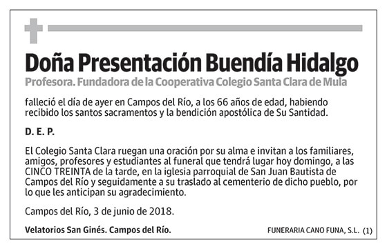 Presentación Buendía Hidalgo