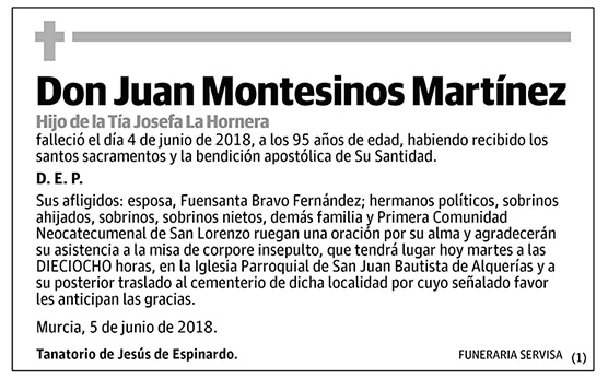 Juan Montesinos Martínez
