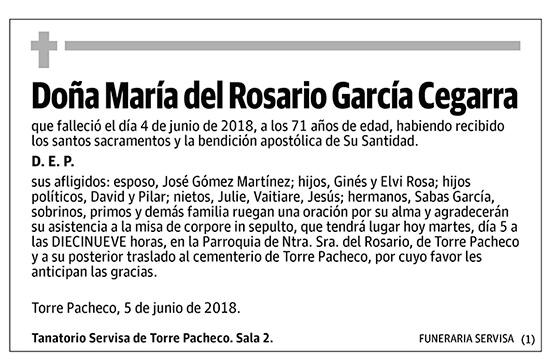 María del Rosario García Cegarra