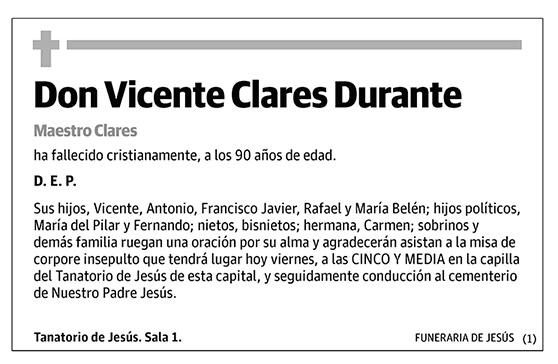 Vicente Clares Durante