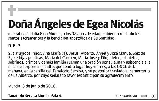 Ángeles de Egea Nicolás