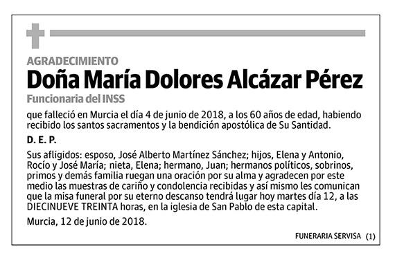 María Dolores Alcázar Pérez