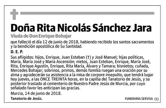 Rita Nicolás Sánchez Jara