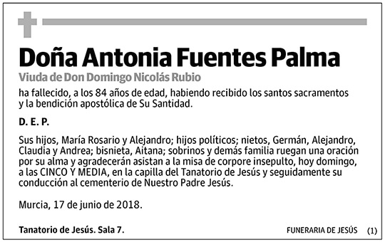 Antonia Fuentes Palma