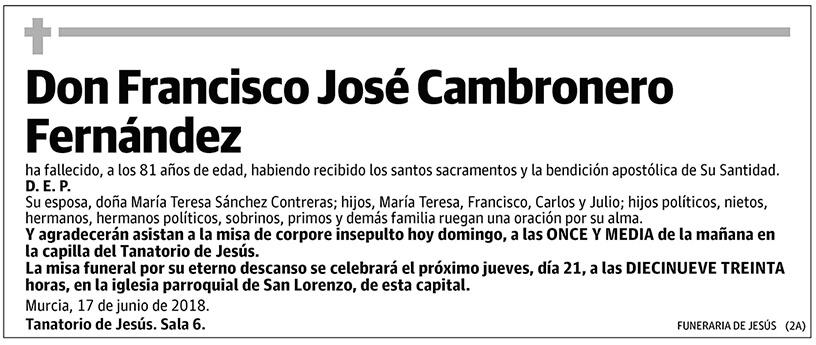 Francisco José Cambronero Fernández