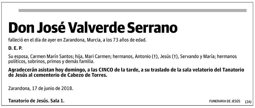 José Valverde Serrano