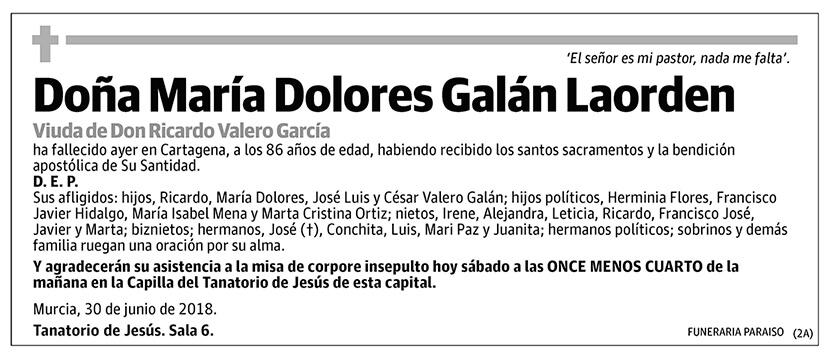 María Dolores Galán Laorden