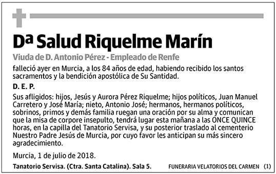 Salud Riquelme Marín