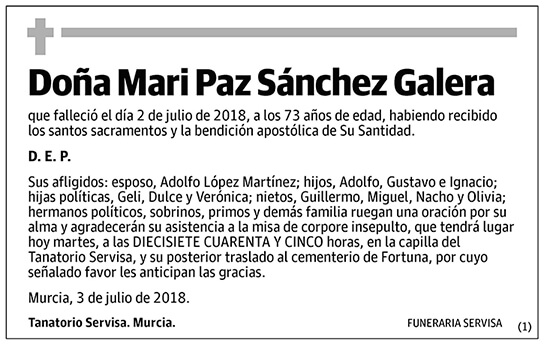 Mari Paz Sánchez Galera