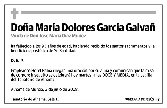 María Dolores García Galvañ