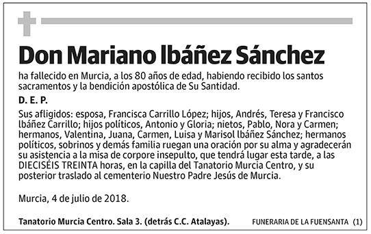 Mariano Ibáñez Sánchez