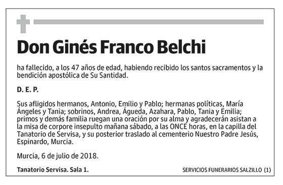 Ginés Franco Belchi