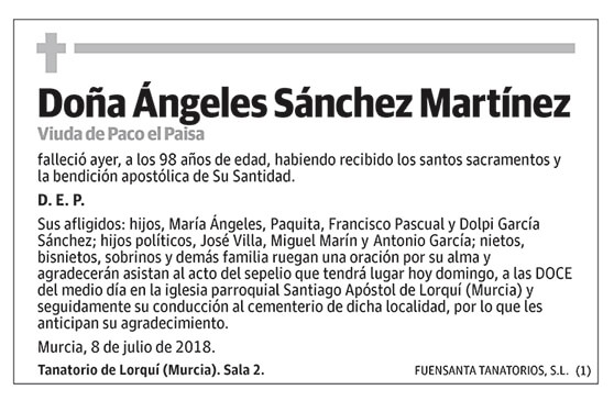 Ángeles Sánchez Martínez