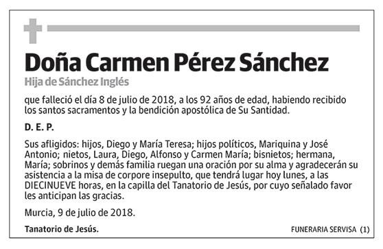 Carmen Pérez Sánchez
