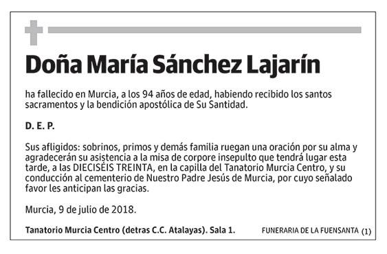 María Sánchez Lajarín
