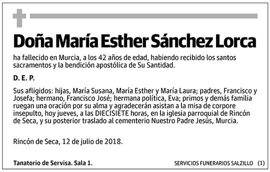 María Esther Sánchez Lorca