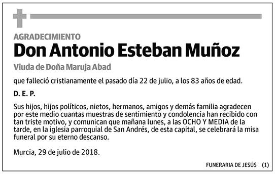 Antonio Esteban Muñoz