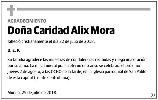 Caridad Alix Mora