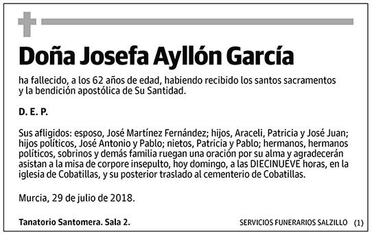 Josefa Ayllón García