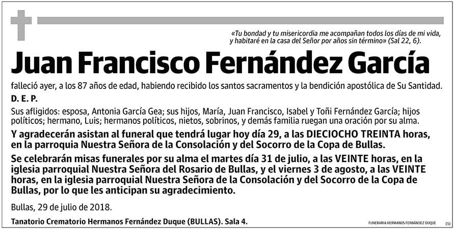 Juan Francisco Fernández García