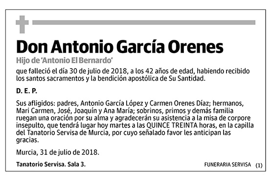 Antonio García Orenes