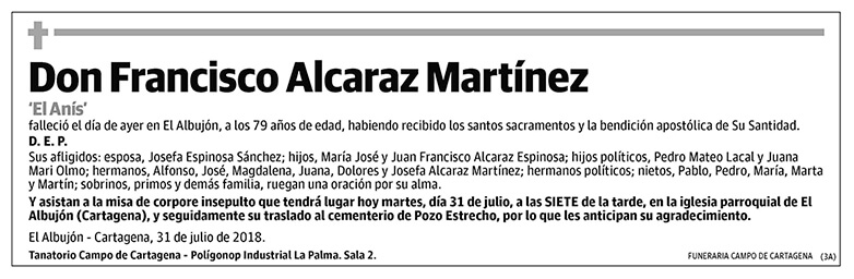 Francisco Alcaraz Martínez