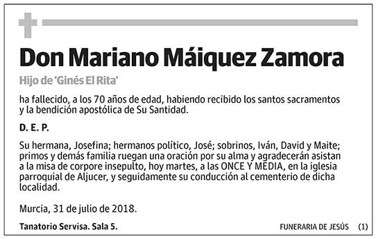 Mariano Máiquez Zamora