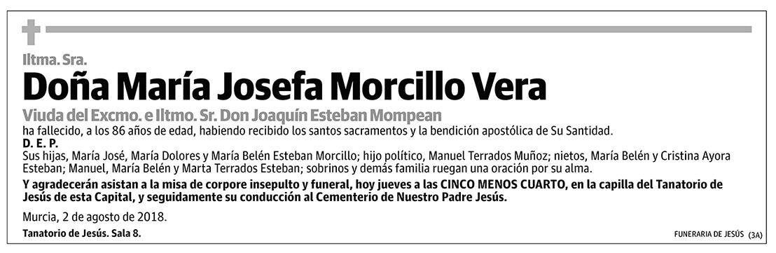 María Josefa Morcillo Vera