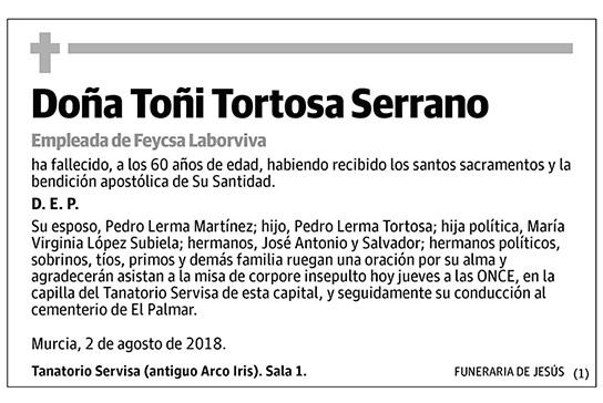 Toñi Tortosa Serrano