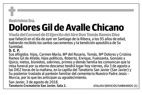 Dolores Gil de Avalle Chicano