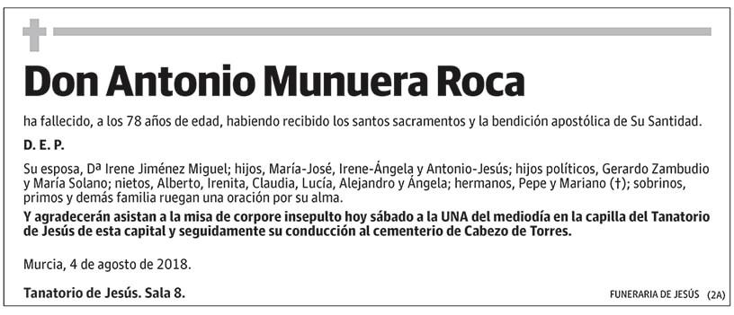 Antonio Munuera Roca