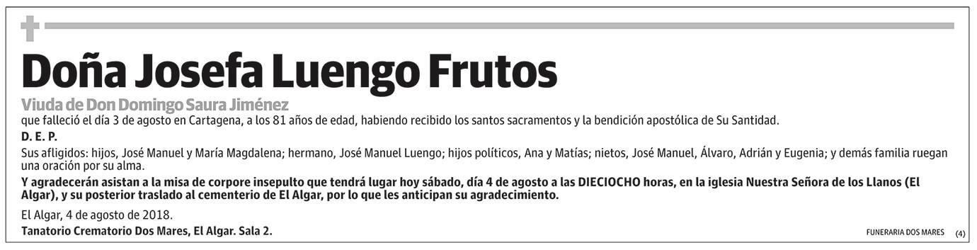 Josefa Luego Frutos