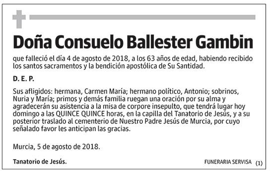Consuelo Ballester Gambin