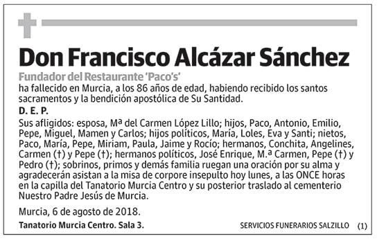 Francisco Alcázar Sánchez