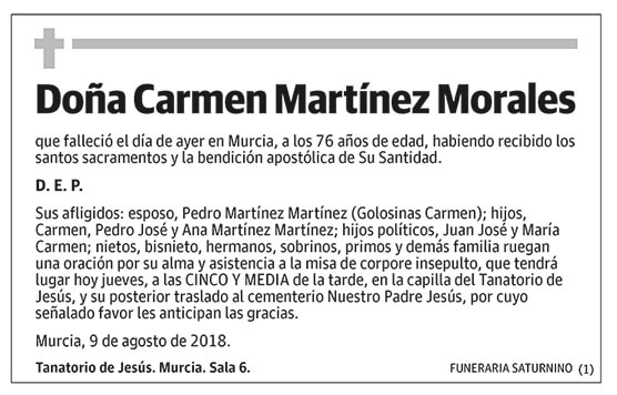 Carmen Martínez Morales