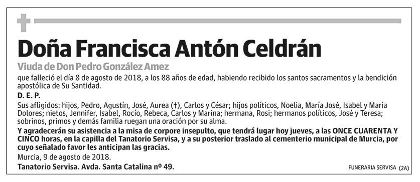 Francisca Antón Celdrán