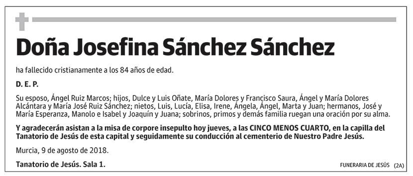 Josefina Sánchez Sánchez