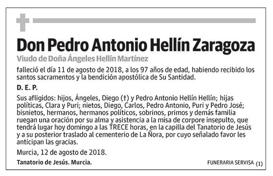 Pedro Antonio Hellín Zaragoza