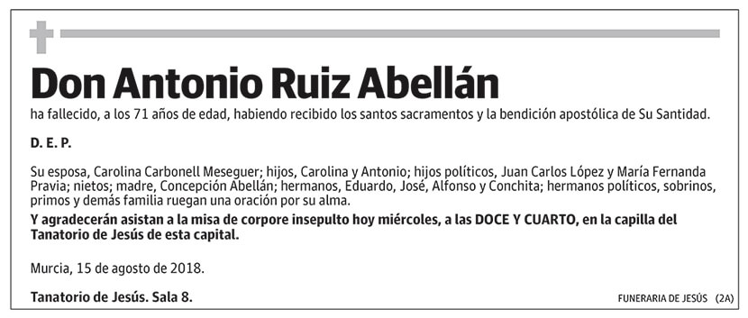 Antonio Ruiz Abellán