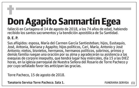 Agapito Sanmartín Egea