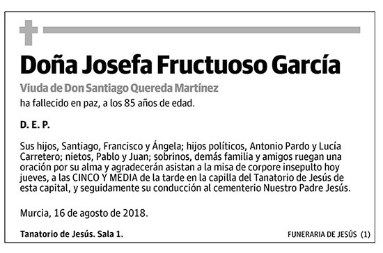 Josefa Fructuoso García