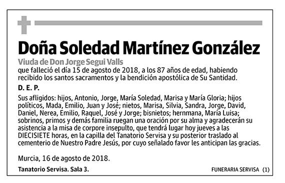 Soledad Martínez González