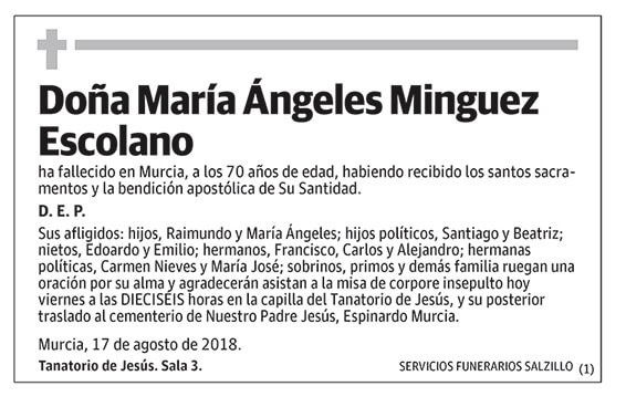 María Ángeles Minguez Escolano