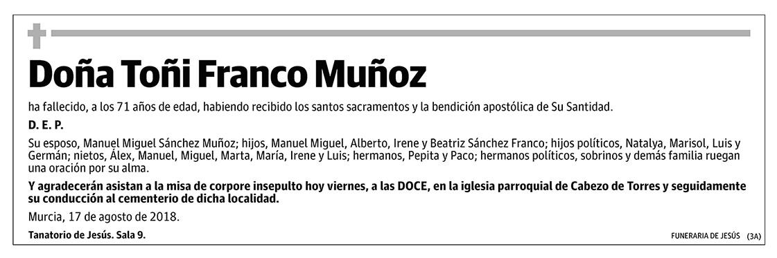 Toñi Franco Muñoz
