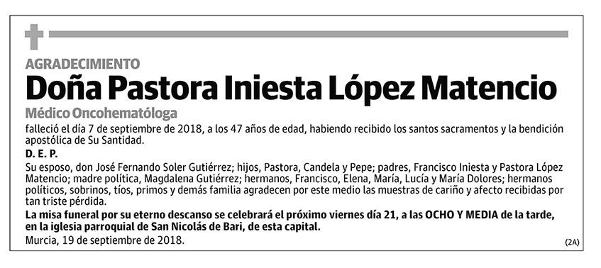 Pastora Iniesta López Matencio