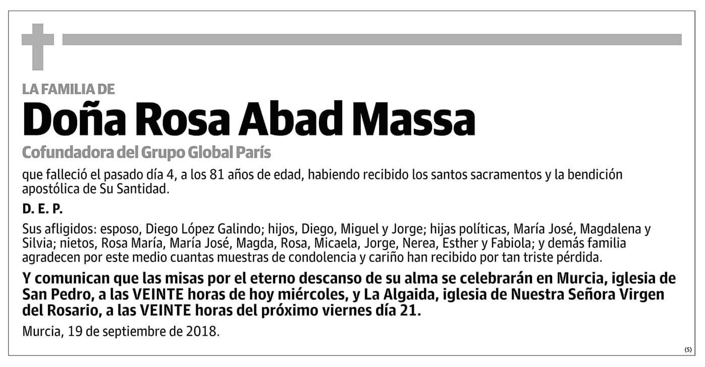Rosa Abad Massa