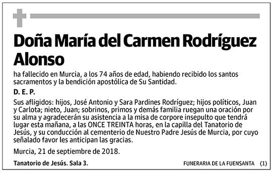María del Carmen Rodríguez Alonso