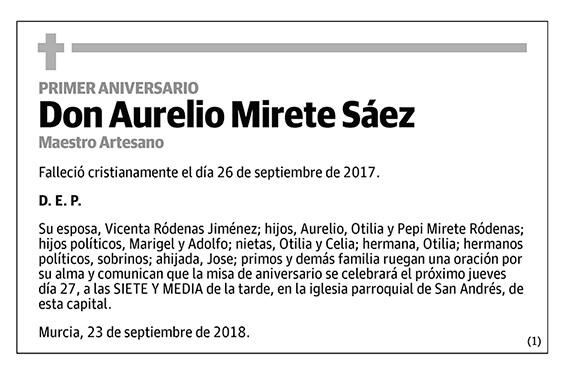 Aurelio Mirete Sáez